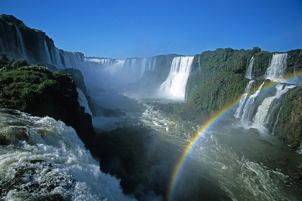 An image of Iguazu Falls taken on a short Brazil vacation